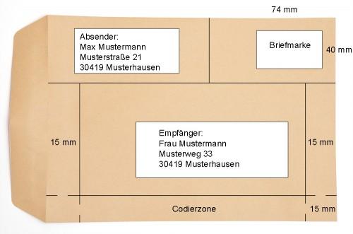 Briefe Beschriften Deutsche Post : Business wissen management security din a