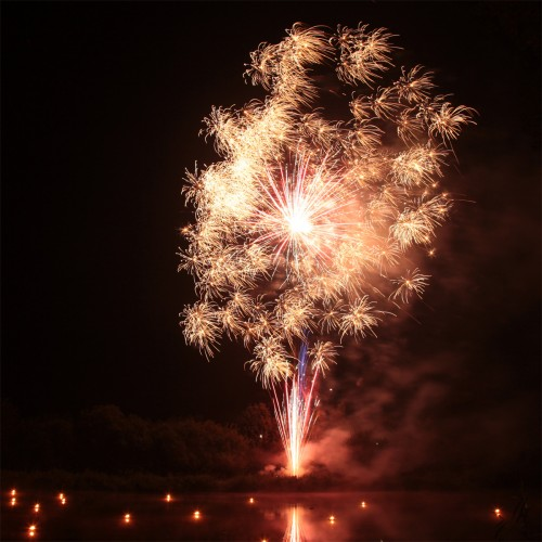 Bild 4: Impression vom Feuerwerk