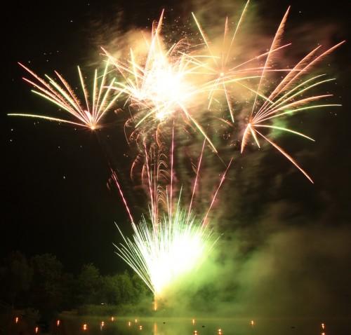Bild 6: Impression vom Feuerwerk
