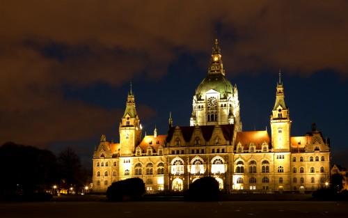 Rathaus Hannover Langzeitbelichtung